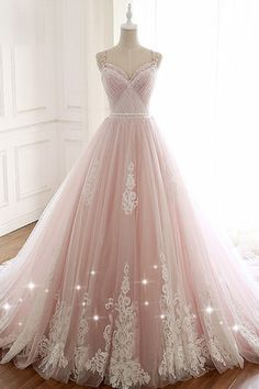 Fashion Tips Shoes Pink Spaghetti Straps Tulle Prom Dress with Lace Appliques A Line Formal Evening Party Dresses Okdresses.Fashion Tips Shoes Pink Spaghetti Straps Tulle Prom Dress with Lace Appliques A Line Formal Evening Party Dresses Okdresses Princess Prom Dresses, A Line Prom Dresses, Tulle Prom Dress, Prom Party Dresses, Lace Dress, Evening Dresses, Party Gowns, Summer Dresses, Occasion Dresses