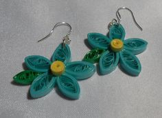 Medium Teal With Yellow and Green Accent Daisy by RheasOriginals