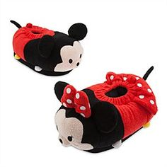 Disney Minnie Mouse Tsum Tsum Adult's Slippers   Disney StoreMinnie Mouse Tsum Tsum Adult's Slippers - Our Minnie Mouse Tsum Tsum slippers are cute, comfy and colourful. Made from super soft fabric, the Tsum Tsum design features charming embroidered features together with a polka dot 3D bow and frilly skirt.