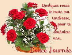 Quelques roses et toute ma tendresse, pour te souhaiter une Douce Journée #bonnejournee fleurs roses bouquet bisous