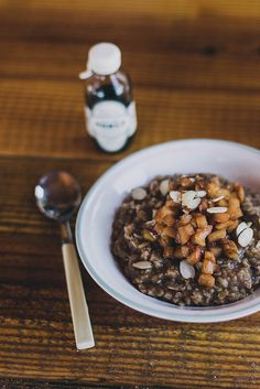 Milk Oatmeal & Sea Salt Fruit by Beth Kirby   {local milk}, via Flickr