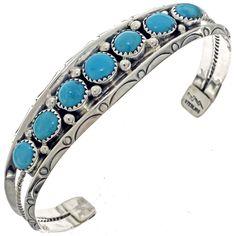 Navajo Turquoise Bracelet Sleeping Beauty Ladies Cuff