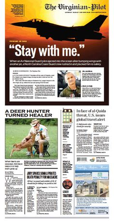 The Virginian-Pilot's front page for Saturday, Aug. 3, 2013.