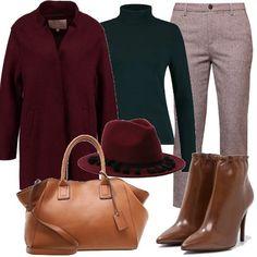 Cappotto borgogna  outfit donna Chic per ufficio e tutti i giorni  a3caae808c4d7