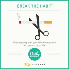 Break the Habit Smoking Cessation, Live Long, 60th Birthday, Ads, Smoke, Life, Smoking, Acting