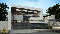 Boundary Walls, Exterior, House Design, Flooring, 3d, House Styles, Modern, Home Decor, Blue Prints