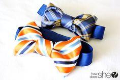 Make a Bow Tie From a Men's Necktie
