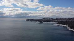 Lake Superior Shoreline in March 2015. #AuthenticDuluth #VisitDuluth