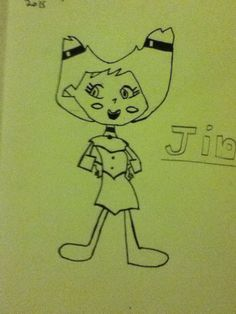 #Jinx from teen titans go if you liked this drawing I did follow me