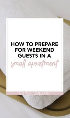Have guests staying for the weekend but live in a small apartment? Here are some easy tips and tricks on how to prepare and host for guests overnight in your small space. #hostingaparty #partyideas #hostingguests #hostingguestsovernight #hostingguestsfortheweekend Rental Apartments, Small Apartments, Renters Solutions, Rental Makeover, Studio Apartment Decorating, Old Home Remodel, Cheap Home Decor, Decorating Tips, Home Remodeling