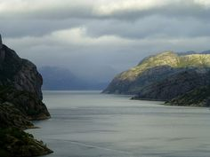 View into the Lysefjorden, Norway