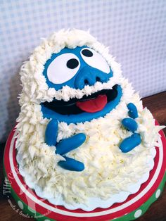"""Abominable Snowman """"Bumble"""" Cake by The Cake Mom & Co."""