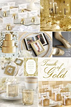 Touch of Gold Wedding Inspiration and Ideas featuring our gold favors from Kate Aspen