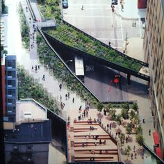 The High Line, NY ~ a dilapidated elevated rail line is transformed into a modern public park...