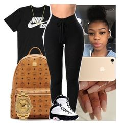 """""""Untitled #1441"""" by msixo ❤ liked on Polyvore featuring NIKE, MCM, Retrò and Rolex #leggingsoutfit"""