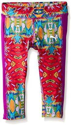 PUMA Little Girls Active Legging Capri Swirl 5 -- Visit the image link more details. Note:It is affiliate link to Amazon.