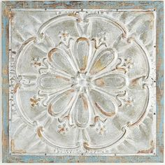 We've taken the look of a victorian tin ceiling tile and embellished it. our antiqued, embossed iron medallion is framed with ornate detailing and mounted on …