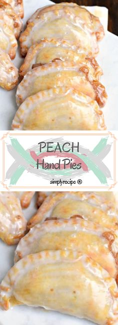 Dessert is ready in 30 minutes with these Glazed Peach Hand Pies! The flaky crust and spicy cinnamon filling are the perfect combo in a hand pie, plus they're baked not fried! Hand Pies, Simply Recipes, Unique Recipes, Pie Dessert, Dessert Recipes, Cake Recipes, Fried Peach Pies, Delicious Desserts, Yummy Food