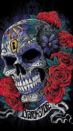 A friend I Have Share Top 50 Latest Collection Wallpaper Images on Android and iPhone, very nice and beautiful images. like iPhone wallpaper, Android image. Sugar Skull Tattoos, Sugar Skull Art, Sugar Skulls, Silkscreen, Skull Pictures, Marijuana Art, Day Of The Dead Art, Skull Artwork, Skulls And Roses
