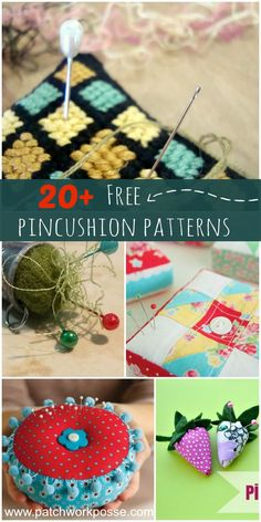 free pincushion patterns. Perfect project to sew anytime and give as gifts.: