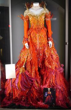 Fire Dress worn by Glenn Close in '102 Dalmations'. - Pesquisa Google