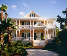 Caribbean home | Country French House Plans- Martinique Caribbean Home