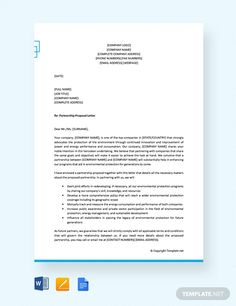 Free Formal Proposal Letter for Partnership