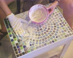 Simple steps to great mosaic! I want to learn to do this.