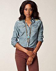 Beaded Yoke - Denim & Supply by Ralph Lauren - Indigo - Blusar & skjortor - Kläder - NELLY.COM Mode online på nätet $1495