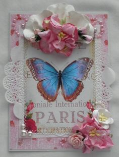 Shabby Chic Butterfly Swap Card Group 19 - Scrapbook.com