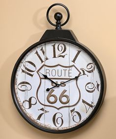 Find this Pin and more on HOME DECOR. This Route 66 ...  sc 1 st  Pinterest & Route 66 #Wall #Clock u2013 If you own a bar I hope this clock is on ...