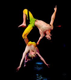 Our trapeze duo from #TOTEM...they amaze us every time!