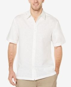 Cubavera Men's Tonal Embroidered Shirt - White XXL