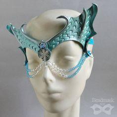 Mermaid Mask - Beaded Leather Crown