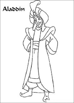 Picture Of Aladdin Prince Ali Coloring Page From Category Select 25714 Printable CraftsFree PrintableNature AnimalsAladdinColoring