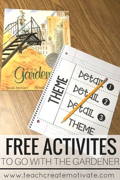 Great freebies to go with the book, The Gardener for teaching theme!