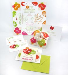 clever little invitation.    Cootie Catcher Wedding Invitation Suite SAMPLE by oneLittleM, $6.00