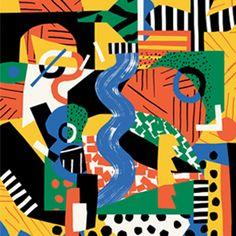 atelier_bingo Illustration for (Paris) with & agence babel Bingo, Cut Paper Illustration, Graphic Illustration, Collages, Wrap Magazine, Jazz, Happy Colors, Surface Pattern Design, Illustrators