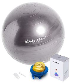 Exercise Ball - Fitness & Workout Tune up - Stability Balance Body Weight Yoga Ball 65cm,75cm With Pump - Strengthen Your Total Core Gray 65cm -- You can find out more details at the link of the image.