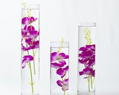 Submersible Blue/Purple/Pink/White/White with purple/Yellow Orchids Floral Wedding Centerpiece with Floating Candles and Acrylic Crystal Kit Sumergible azul / púrpura / rosa / blanco / blanco con image Water Centerpieces, Silk Flower Centerpieces, Terrarium Centerpiece, Wedding Centerpieces, Wedding Decorations, Yellow Orchid, Purple Orchids, White Orchids, Purple Yellow