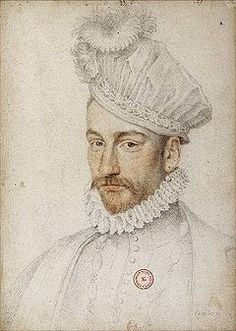 Valois-Angoulême King of France June 27 1550 May 30 1574 Married Elizabeth of Bohemia-Austria in Had one legitimate daughter who died young.and ilegitimate son Le Petit Charles Duke of Angoulême with mistress Marie Touchet. Renaissance Portraits, Renaissance Artists, Renaissance Men, Portrait Au Crayon, Portrait Art, French History, Modern History, Charles Ix Of France, François Ii