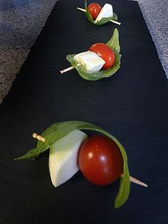 One of the better presentations I have seen for Caprese Appetizer Bites.