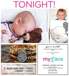 1 HOUR to Alex and Ani Soho Charmed by Charity! Come by 425 West Broadway (between Prince and Spring) from 6 to 9pm this evening, where 15% of all purchases will go directly to support children like Cameron and his family living with Craniosynostosis.  Remember that even if you cannot attend, you can still participate by calling the Soho store at 1(646) 484-5099 before closing at 9pm and making your purchase.