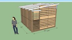 10'x12' Pallet Shed - 3D Warehouse