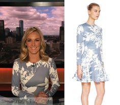 Nine News AU: April 2016 Alicia's Grey Floral Print Dress