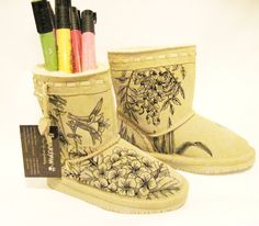 Bearpaw Color Me boots for kids  hand by TheWoodsSecretGarden, $169.00