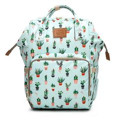 Waterproof Anti Thef Diaper Bag Mommy Maternity Nappy Backpack Printing Baby Stroller Organizer Nursing Changing Bag To Care Color printing 1 Baby Girl Diaper Bags, Large Diaper Bags, Large Bags, Nappy Bags, Diaper Bag Backpack, Travel Backpack, Cactus Backpack, Trendy Baby, Baby Toys
