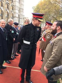 """10 November 2016..Westminster Abbey on Twitter: """"Prince Harry meets a guest at today's opening of the Abbey's Field of Remembrance."""
