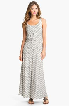 Olive & Oak Chevron Stripe Maxi Dress