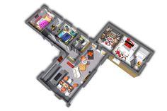 L'intérieur de cette maison se veut sur mesure pour vos besoin. Ce dernier est un suculant mélange du modèle family et du modèle confort. Il dispose d'un séjour comprenant le salon, la cuisine et salle à manger ainsi que les WC et la buanderie dans un premier bloc. De ce bloc en découlent deux autres, un premier contenant deux chambres confortables et un second comportant un dressing avec accès à une 3ème chambre.